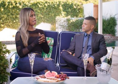 Barefoot x OUT – Laverne Cox and Wilson Cruz